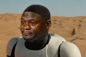 Lando Calrissian Meme - star wars finn crying michael jordan know your meme
