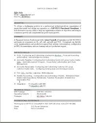 Email Sample For Sending Resume by Astonishing Sap Fico Resume Sample Pdf 61 For Your Create A Resume