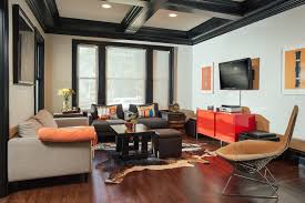 coffered ceiling paint ideas living room industrial with gray