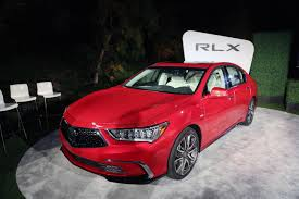acura 2018 acura rlx tries to steal spotlight from new race car