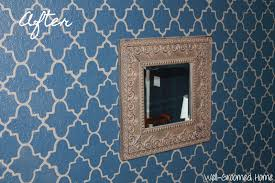 Master Bedroom Wall Stencils Stenciling A Textured Wall Master Bedroom Well Groomed Home