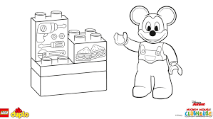 lego duplo mickey mouse coloring coloring lego