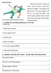 printable reading comprehension test enchanting fifth grade english printable worksheets about esl kids