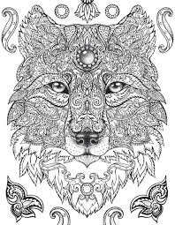 coloring pages picture coloring page animal mandala pages wolf