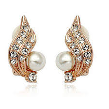 clip on earrings s gold plated clip costume earrings ebay