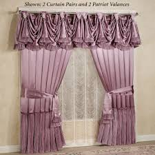 Curtain Pairs Marquis Orchid Satin Window Treatment