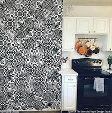 kitchen stencils designs 12 stunning ideas for stenciling a diy kitchen backsplash design