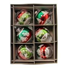 vc decorated shapes boxed glass ornaments radco ornaments