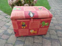 Ottoman Zoo A Lovely Play Box Ottoman With Zoo Animal Print Material And A