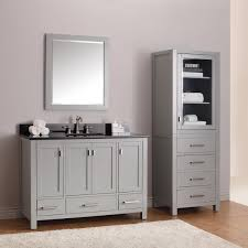 Bathroom Furniture Doors Modern Bathroom Single Sink Vanities With Polished Nickel