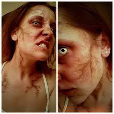 special effects airbrush makeup infected makeup look with veins and bruising by of the