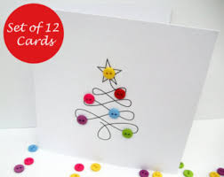 christmas card pack etsy