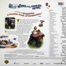 willy wonka u0026 the chocolate laserdisc rare laserdiscs ac 3 dolby