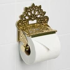 Antique Brass Bathroom Accessories by Dering Solid Brass Toilet Paper Holder Bathroom