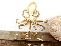 octopus decor gold octopus hook jewelry hanger gold wall decor necklace
