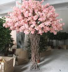wedding decorative 2 2m pink indoor artificial cherry blossom tree