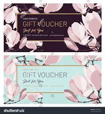 Salon Invitation Card Set Gift Vouchergift Card Gift Certificate Stock Vector 548065051