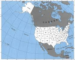 United States America Map by