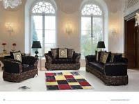 versace wohnzimmer versace modelle sofa garnitur mit steine swarovski design