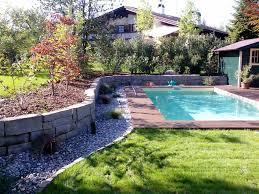 Garten Gestalten Vorher Nachher Garten Gestalten Mit Pool Haus Design Ideen
