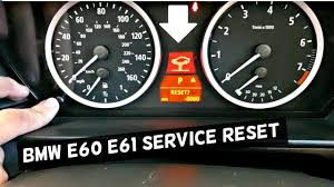 bmw how to reset service indicator bmw e60 61 how to reset service brake service service reset