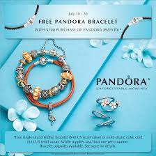 free leather bracelet images Free pandora bracelet event exclusively diamonds jpg