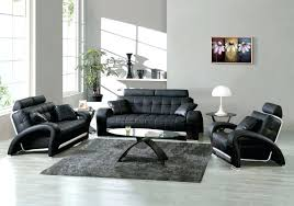 Black Leather Living Room Furniture Sets Modern Leather Living Room Furniture Sets Style Bag Sofa Set