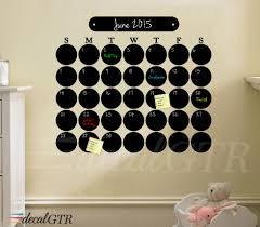 Chalk Board Wall Stickers Circles Chalkboard Calendar Decal C013 Stampmagick Wall Decals