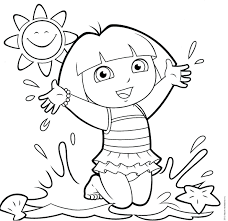 cool princess the explorer coloring pages and monkey 49