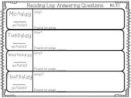 reading logs for every 3rd grade common core reading standard