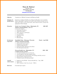 resume design pitch examples sample medical assistant example of