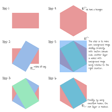 create beautiful hexagon shapes with pure css3