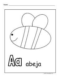 alphabet coloring pages in spanish spanish alphabet coloring pages by i heart books too tpt