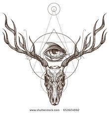 deer tattoo stock images royalty free images u0026 vectors shutterstock