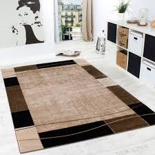Wohnzimmer Design Bilder Designer Teppich Wohnzimmer Teppich Modern Bordüre In Braun Beige