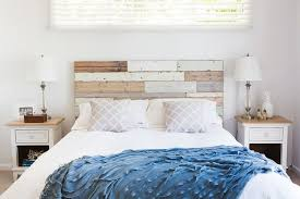 Wood Panel Headboard Bedrooms Wood Panel Headboard Becomes A Key Elemnt In The Shabby