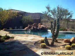 Best A Desert Landscaping For Pool Images On Pinterest Pool - Backyard landscape designs with pool