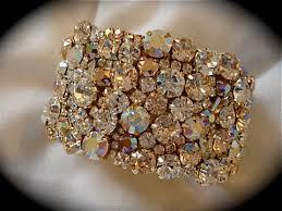 rose gold swarovski crystal bracelet images Rose gold crystal bridal bracelet bridesmaid tennis bracelet jpg