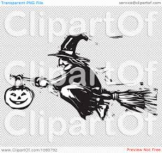 halloween black and white background clipart black and white woodcut halloween witch flying on a