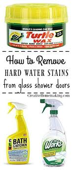Glass Wax For Shower Doors Removing Water Stains And Water Deposits On Glass Shower
