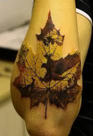 35 best 3d leaf tattoos images on leaf tattoos