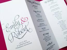 tri fold wedding program template trifold programs europe tripsleep co