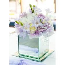 Mirrored Cube Vases Lilac U0026 White Mirror Cube Vases At Boys Hall Ashford 0 00