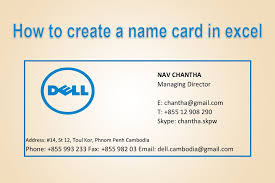 business card exle how to make business cards with microsoft excel