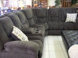 leather sectional sofas with recliners and cup holders black