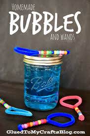 homemade bubble mixture and wands craft bubble mixture