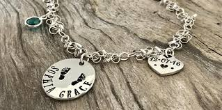Personalized Stamped Necklace Personalized Hand Stamped Jewelry Items From Washington