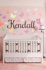 35 best wall art and murals images on pinterest wall murals butterfly script personalized name nursery wall