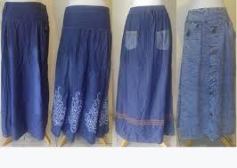 Baju Atasan Rok Levis rok panjang denim model terbaru murah grosir rok panjang