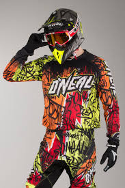 personalised motocross jersey o u0027neal youth element vandal jersey black neon quick dispatch 24mx